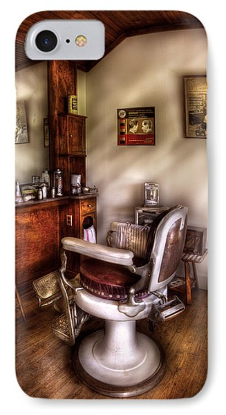 Barber - In The Barber Shop  IPhone Case by Mike Savad
