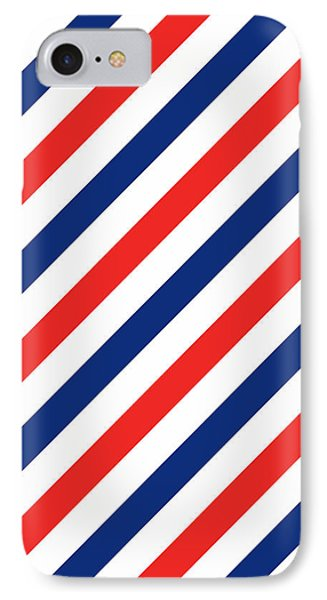 Barber Stripes IPhone Case by Julia Jasiczak