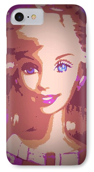Barbie Hip To Be Square IPhone Case by Karen J Shine
