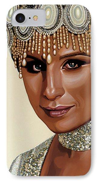 Barbra Streisand 2 IPhone Case by Paul Meijering