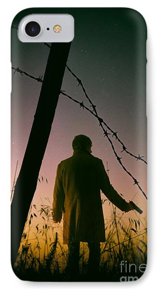 Barbwire Trespassing IPhone Case by Carlos Caetano