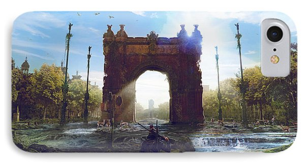 Barcelona Aftermath Arc De Triomf IPhone Case by Guillem H Pongiluppi