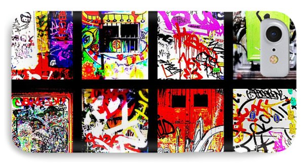 Barcelona Doors ... All Graffiti Phone Case by Funkpix Photo Hunter