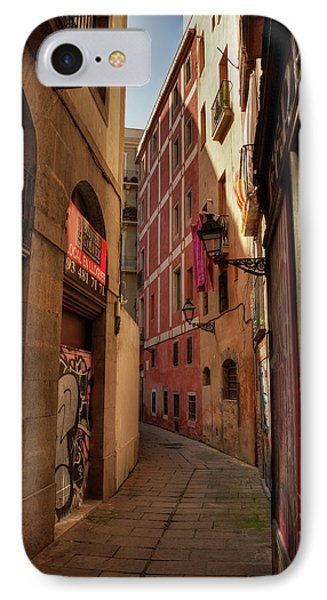 IPhone Case featuring the photograph Barcelona - Gothic Quarter 003 by Lance Vaughn