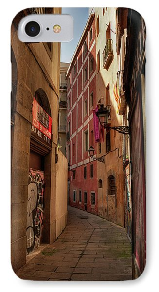 Barcelona - Gothic Quarter 003 IPhone Case by Lance Vaughn