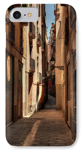 IPhone Case featuring the photograph Barcelona - Gothic Quarter 004 by Lance Vaughn