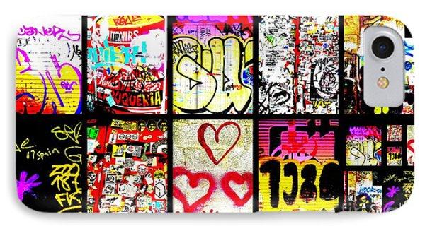 Barcelona Graffiti Wall  Phone Case by Funkpix Photo Hunter