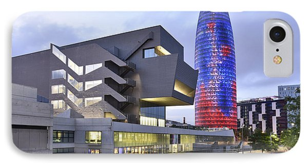 IPhone Case featuring the photograph Barcelona Modern Architecture by Marek Stepan