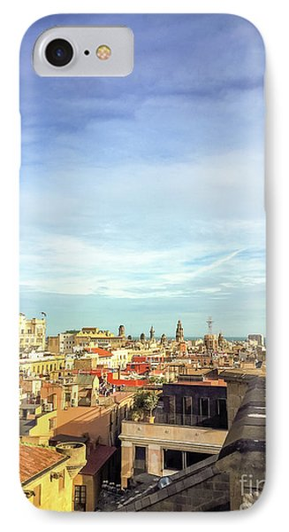 IPhone Case featuring the photograph Barcelona Rooftops by Colleen Kammerer