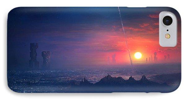 Barcelona Smoke And Neons Montserrat IPhone 7 Case by Guillem H Pongiluppi