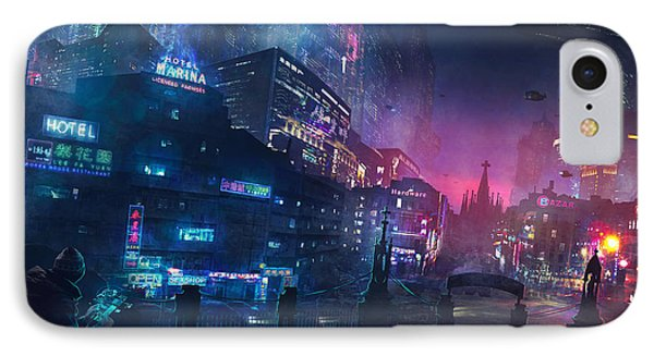 Barcelona iPhone 7 Case - Barcelona Smoke And Neons Sant Pau I La Sagrada Familia by Guillem H Pongiluppi