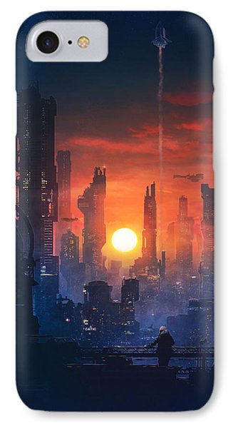 Barcelona iPhone 7 Case - Barcelona Smoke And Neons The End by Guillem H Pongiluppi
