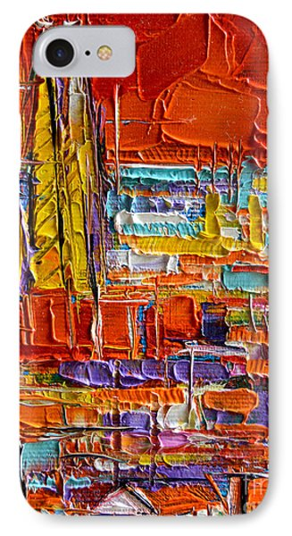 Barcelona iPhone 7 Case - Barcelona View From Parc Guell - Abstract Miniature by Mona Edulesco