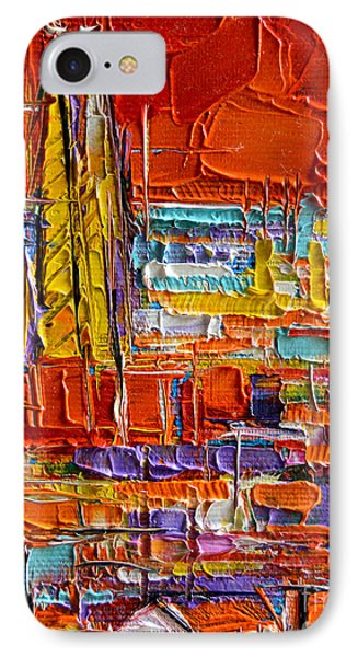 Barcelona View From Parc Guell - Abstract Miniature IPhone Case