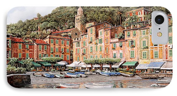 barche a Portofino IPhone Case by Guido Borelli