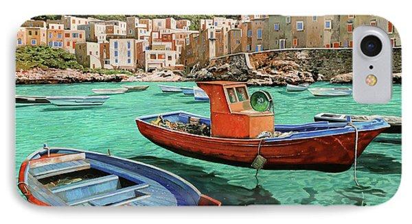 Barche Rosse E Blu IPhone Case by Guido Borelli