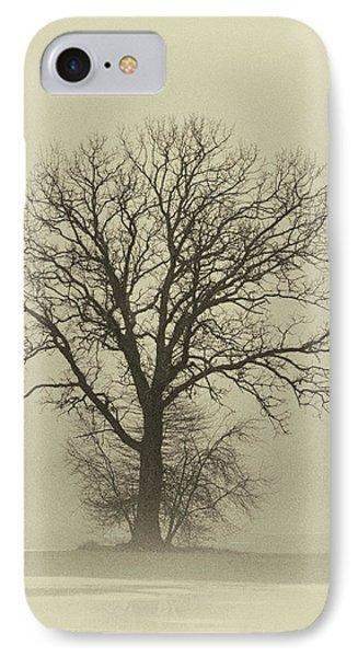 Bare Tree In Fog- Nik Filter Phone Case by Nancy Landry