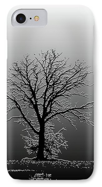 Bare Tree In Fog- Pe Filter Phone Case by Nancy Landry
