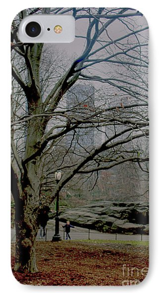 Bare Tree On Walking Path IPhone Case by Sandy Moulder