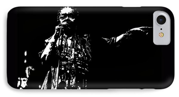 IPhone Case featuring the digital art Barefoot Diva - Cesaria Evora by Maciek Froncisz