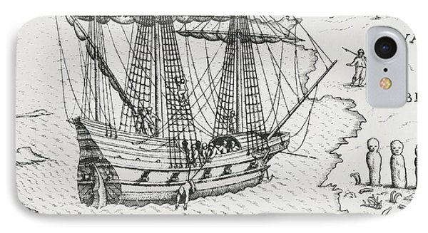 Barents' Ship At Nova Zembla IPhone Case by Dutch School