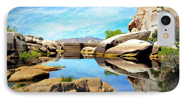 IPhone Case featuring the photograph Barker Dam - Joshua Tree National Park by Glenn McCarthy Art and Photography