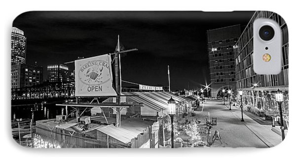 Barking Crab Boston Ma Black And White IPhone Case by Toby McGuire
