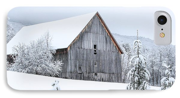Barn After Snow IPhone Case by Tim Kirchoff