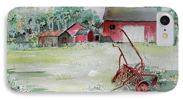 Barn And Cultivator IPhone Case by Christine Lathrop
