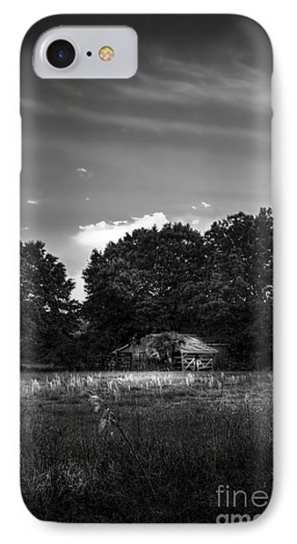 Barn And Palmetto-bw IPhone Case by Marvin Spates