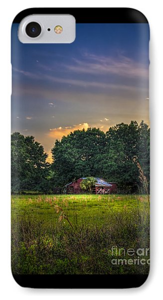 Barn And Palmetto IPhone Case by Marvin Spates