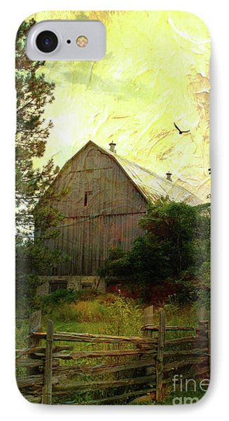 Barn And Silence IPhone Case by Anthony Djordjevic