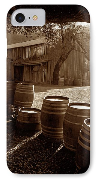 Barn And Wine Barrels 2 IPhone Case