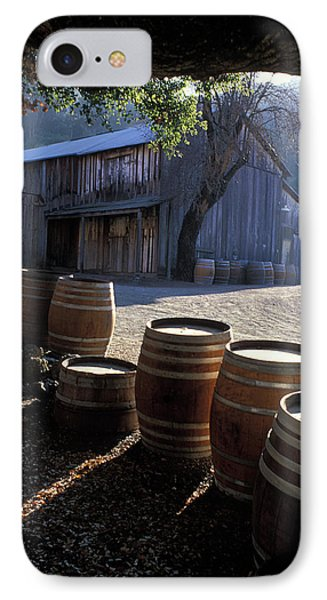Barn And Wine Barrels Phone Case by Kathy Yates