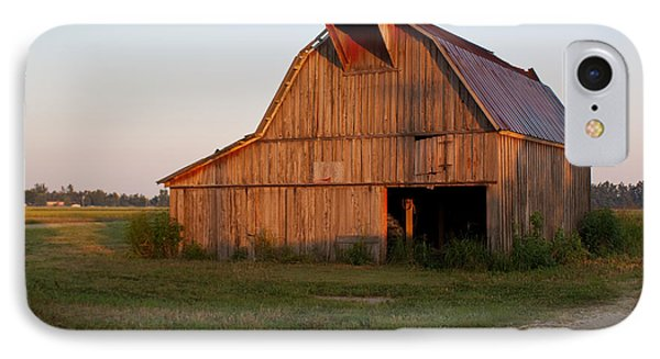 Barn At Early Dawn Phone Case by Douglas Barnett