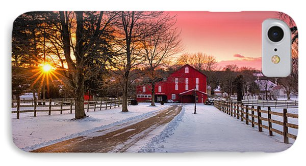 Barn At Sunset  IPhone 7 Case