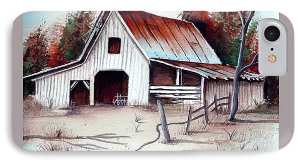 IPhone Case featuring the painting Barn by Denise Fulmer