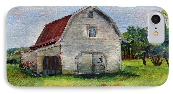 IPhone Case featuring the painting Barn-harrison Park, Ellijay-pinson Barn by Jan Dappen