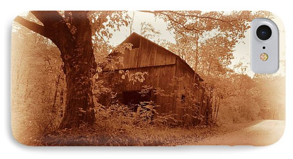 Barn Hocking Co Ohio Sepia IPhone Case