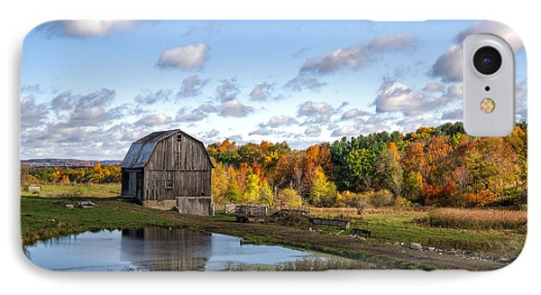 IPhone Case featuring the photograph Barn In Autumn by Mark Papke