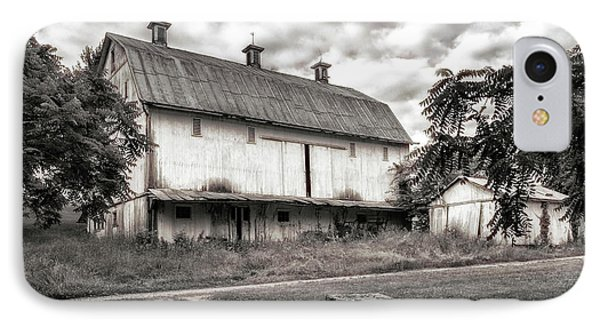 Barn In Black And White IPhone Case by Tom Mc Nemar