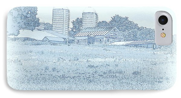 Barn In Blue IPhone Case by Susan Lafleur