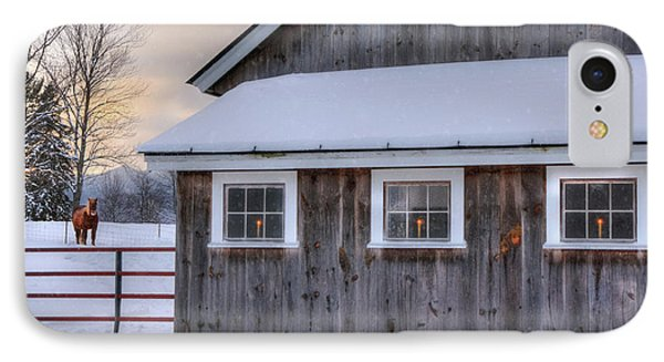 Barn In Snow - White Mountains, New Hampshire IPhone Case