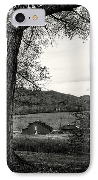 Barn In The Valley In Black And White IPhone Case by Greg Mimbs
