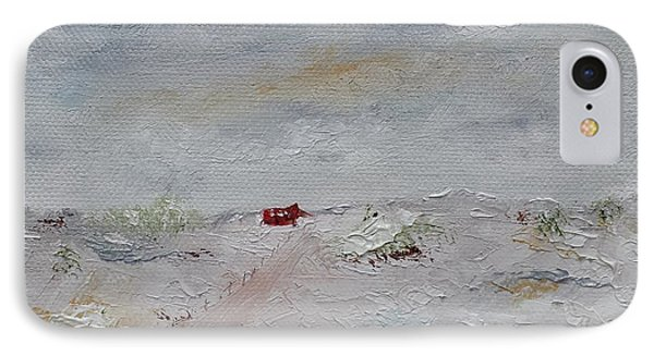 IPhone Case featuring the painting Barn In Winter by Judith Rhue