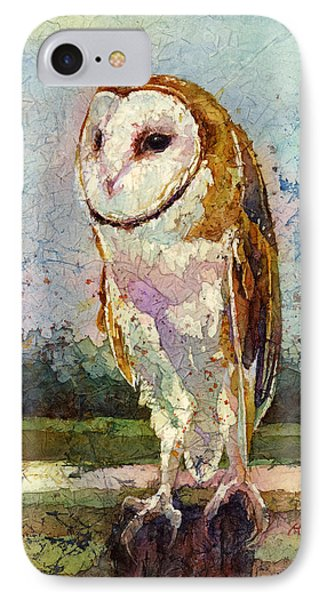 Barn Owl IPhone Case by Hailey E Herrera
