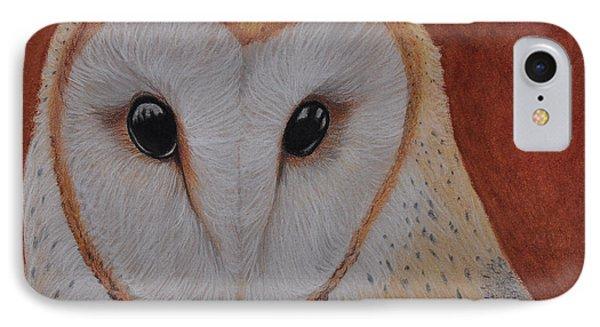 Barn Owl IPhone Case by Jo Baner