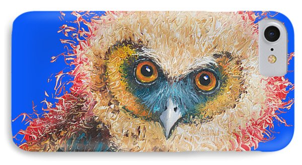 Barn Owl Painting IPhone Case by Jan Matson