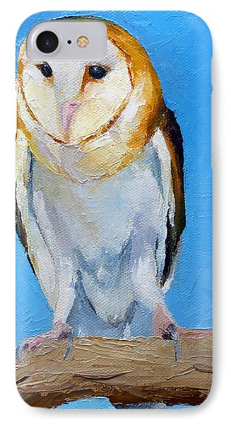 Barn Owl IPhone Case by Susan Woodward