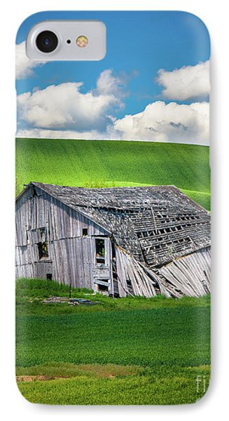 Barn Ruin IPhone Case by Inge Johnsson
